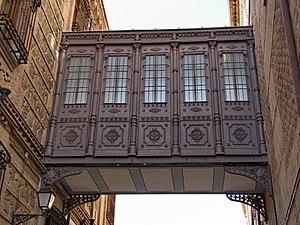 Real Colegio de Doncellas Nobles - Elevated passageway that communicates the primitive building with the enlargement.