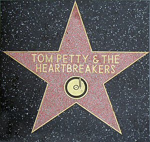 Tom Petty and the Heartbreakers - Hollywood walk of fame star, awarded in 1999