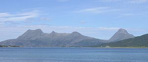 Nesna - View of the island of Tomma
