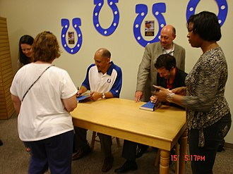 Tony Dungy - Tony Dungy and Nathan Whitaker at the book-signing of Quiet Strength at Fort Wayne, Indiana on July 15, 2007