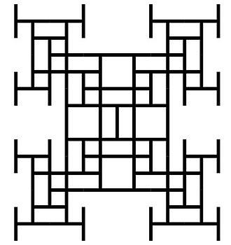 Ulam–Warburton automaton - Toothpick sequence - generation 13