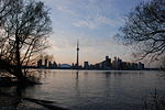 Toronto Dusk Skyline from Center Island.JPG