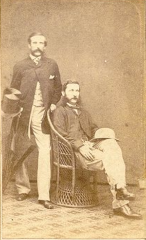Joseph William Torrey - Thomas Bradley Harris (standing left) and Torrey (sitting right).