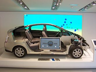 Toyota Prius (XW20) - 2006 Prius cut-away in a Toyota showroom in Paris