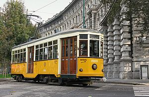 ATM Class 1500 - Car no. 1503, restored, at Piazza Castello