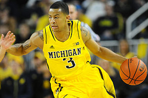 2013–14 Michigan Wolverines men's basketball team - Image: Trey Burke Dec 2012