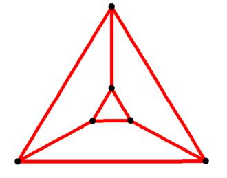 Prism (geometry) - Image: Triangular prismatic graph