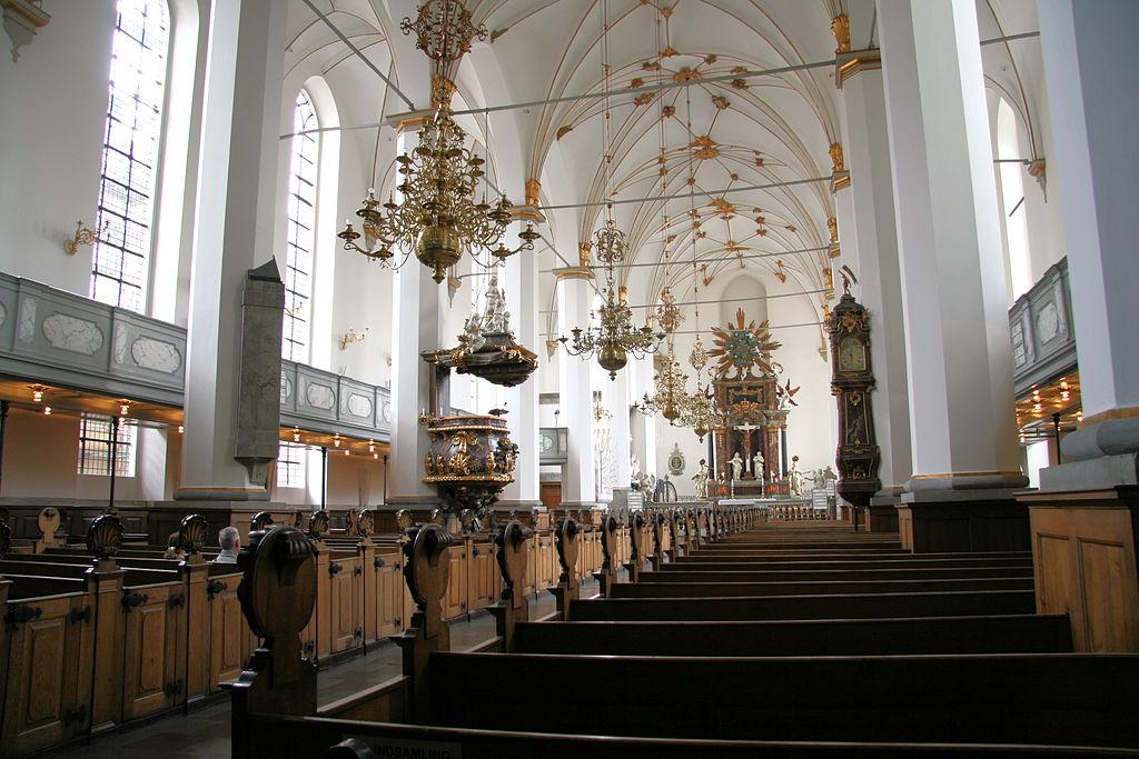 Eglise Trinitatis Kirke à Copenhague.