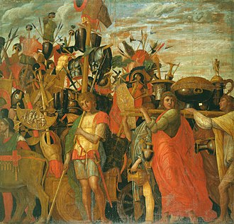Roman triumph - Scene from the Triumphs of Caesar by Andrea Mantegna (1482-94, now Royal Collection)