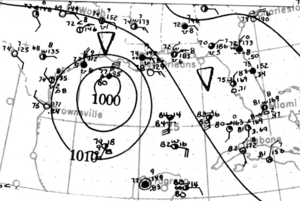 1912 Atlantic hurricane season - Image: Tropical Storm One analysis 12 Jun 1912
