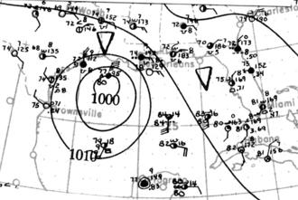 1912 Atlantic hurricane season - Image: Tropical Storm One analysis 12 Jun 1912