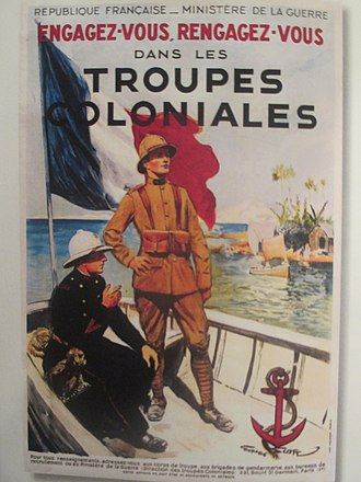 Franco-Thai War - French colonial troops poster