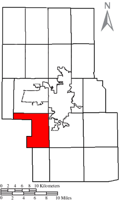Location of Troy Township in Richland County.