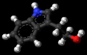 Tryptophol - Image: Tryptophol molecule ball