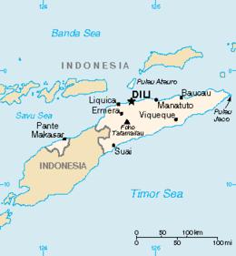 Timor Est - Mappa