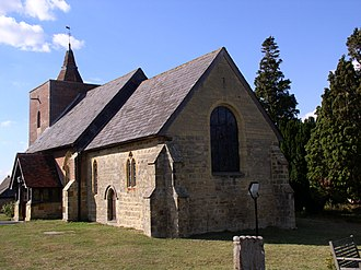 All Saints' Church, Tudeley - Image: Tudeley church