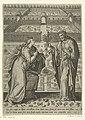 Tuin met op de voorgrond Christus en Maria Magdelena Florilegium (serietitel), RP-P-OB-100.151.jpg