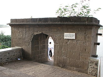 Sambhaji - Stone arch at Tulapur confluence where Sambhaji was executed