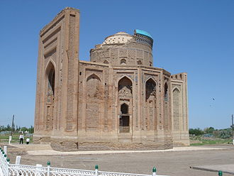 Konye-Urgench - Turabek Khanum Mausoleum, view from the south