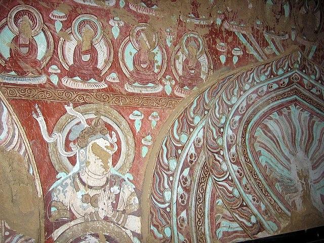 Fresque des Mille Bouddhas de Bezeklik (source : Wikipedia)