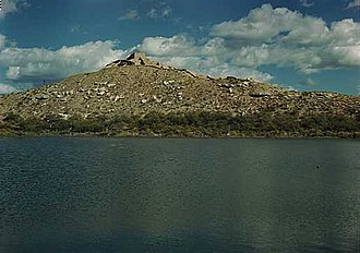 Tuzigoot National Monument - Image: Tuzigoot, pond 1945