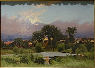Charles F. Kimball - Twilight at Stroudwater, by Charles F. Kimball, 1879