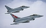 Two Typhoon FGR4 aircraft, flown by 29 (R) Squadron from RAF Coningsby MOD 45164135.jpg
