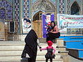 Two mothers and two child - Fadl Ibn Shazan Mosque - March 24,2014 - Nishapur 01.JPG