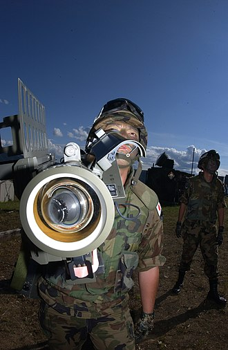 Shoulder-fired missile - A JASDF soldier handles a Type 91 Kai MANPADS during exercises as a part of Red Flag – Alaska.