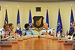 U.S. Air Force Gen. Terrence J. O'Shaughnessy and Indian Air Force Air Chief Marshal Birender Singh Dhanoa discuss challenges throughout the Indo-Asia-Pacific region during a panel at Joint Base Pearl Harbor-Hickam.jpg