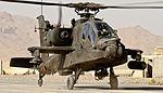 U.S. Army AH-64D Apache Helicopter at Kandahar Airfield MOD 45162028.jpg