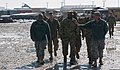 U.S. Army Maj. Gen. Darrell Williams, center, the commanding general of the 1st Theater Sustainment Command, visits Bagram Airfield in Parwan province, Afghanistan, Feb. 7, 2014, to observe and discuss current 140207-A-ZA744-073.jpg