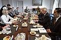 U.S. Defense Secretary Chuck Hagel meets with Albanian Defense Minister Mimi Kodheli at the Pentagon 141030-D-NI589-566c.jpg