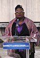 "U.S. Rep. Gwen Moore recites a poem that starts out, ""Great Scott, Scott Walker, you gotta go, baby."" (7316883556).jpg"