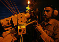 U.S Navy Damage Controlman 3rd Class Jaime Rivera tests a sensor unit on a chemical warfare directional detector aboard the nuclear-powered aircraft carrier USS John C. Stennis (CVN 74) Oct 061011-N-JL759-168.jpg