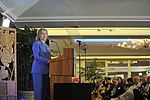 U. S. Secretary of State Hillary Rodham Clinton addresses military and political leaders of Hawaii DVIDS334373.jpg