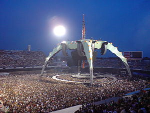 U2 360 tour stage, before one of the 2 Zagreb ...