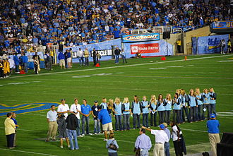 Adam Krikorian - Adam Krikorian (far left) and his UCLA Women's Water Polo team honored for winning UCLA's 100th NCAA Championship, 2007.