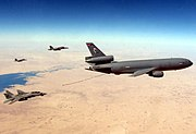 USAF F-14D and F-18C's prepare to refuel