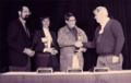 USENIX Flame Award being presented to Sventek, Scherrer, and Hall.png