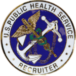 U.S. Public Health Service Commissioned Corps Recruiter Badges