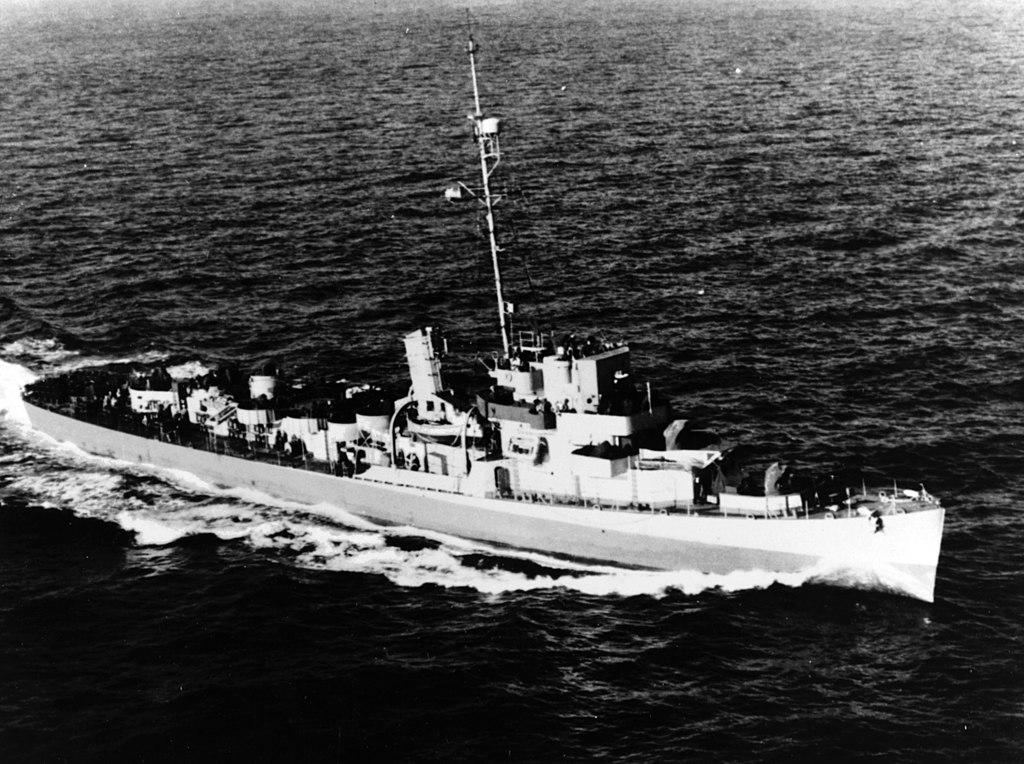 USS George W. Ingram (DE-62) underway at sea, circa 1944 (NH 79804).jpg