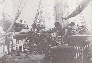 USS Kearsarge (1861) - Image: USS Kearsarge (1861) deck