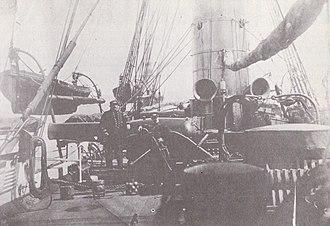 Battle of Cherbourg (1864) - Image: USS Kearsarge (1861) deck