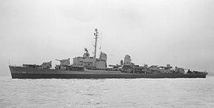USS Lofberg (DD-759) off San Francisco on 3 May 1945 (19-N-83460)