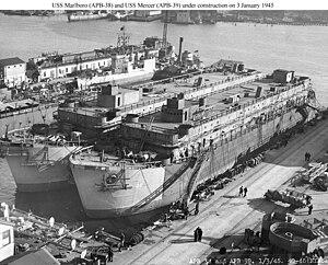 USS Mercer (APL-39) - Image: USS Mercer (APB 39)