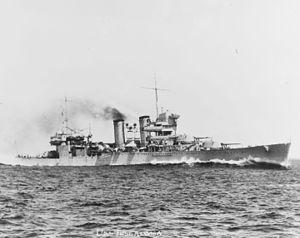 USS Tuscaloosa (CA-37) - Tuscaloosa underway in 1934.