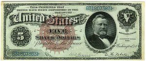 300px US %245 1886 Silver Certificate Grantseekers ISO of A Grant