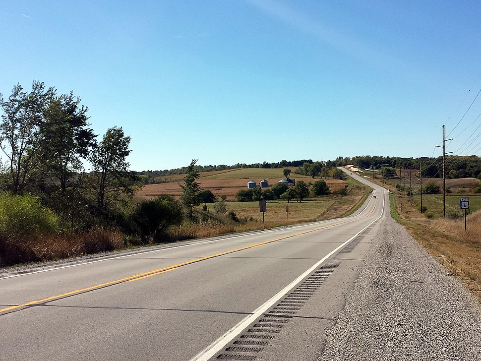 US 6 east of Newton