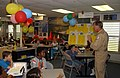 US Navy 041028-F-0971G-021 Retired Capt. Dale Snodgrass speaks to children from the Starbase program at the Florida Air National Guard Base in Jacksonville, Fla.jpg